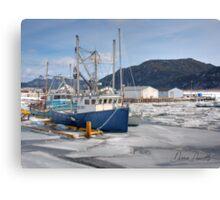 Boats at Little Port Harmon Canvas Print