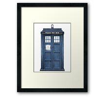 Dr. Who Tardis Framed Print
