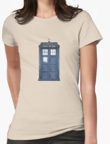 Dr. Who Tardis Womens Fitted T-Shirt
