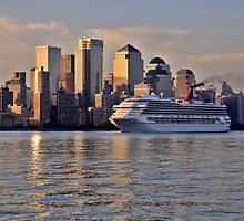 Carnival cruise ship Triumph on the Hudson Rv. by pmarella