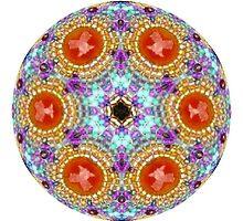 Carnelian Mandala Beadwork by janepriser