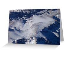 Snowy Plateau Greeting Card