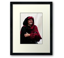 A hopeful Medieval merchant during the crusial battle 2 Framed Print