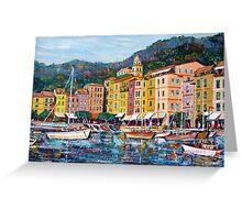 Portofino seascape Greeting Card