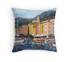Portofino seascape Throw Pillow