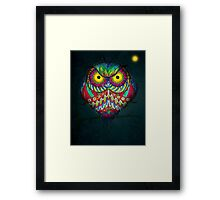 """Angry Owl by Night"" Framed Print"