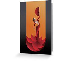 Art Deco geometric styled Spain Flamenco dancer Greeting Card