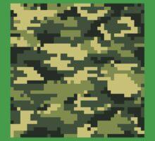 8 Bit Pixel Woodland Camouflage One Piece - Short Sleeve