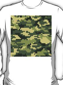 8 Bit Pixel Woodland Camouflage T-Shirt