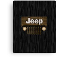Jeep Willys ~ Wood [Black] Canvas Print