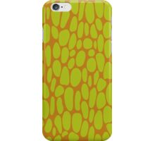 Acid Green Dots on Analogous Background  iPhone Case/Skin