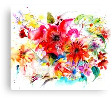 """ Watercolor garden II "" Canvas Print"