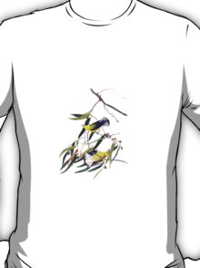 Vintage cute bright yellow and black birds T-Shirt