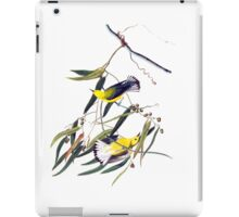 Vintage cute bright yellow and black birds iPad Case/Skin