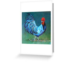 The Magic Rooster Greeting Card