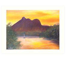 Mt Warning Sunset Art Print