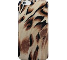 Vintage brown black abstract animal print pattern iPhone Case/Skin