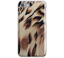 Vintage brown black abstract animal print pattern iPhone Case/Skin