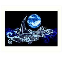 Lunar Sailing Art Print