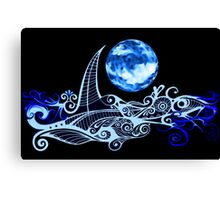 Lunar Sailing Canvas Print