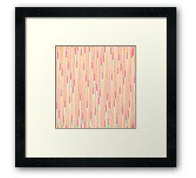 Elegant Summer Coral 8-Bit Pixel Stripes Framed Print