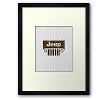 Jeep Willys ~ Wood [White] Framed Print