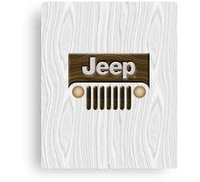 Jeep Willys ~ Wood [White] Canvas Print
