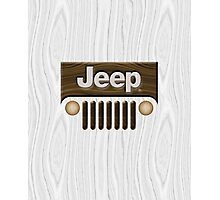 Jeep Willys ~ Wood [White] Photographic Print