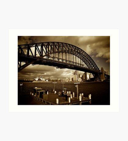 The Sydney Harbour Bridge from Milsons Point, June 2009 Art Print