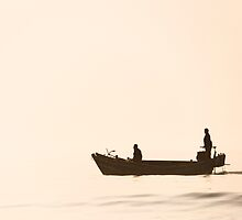 Simplicity - Fishermen at Dawn in Qingdao, China by SeeOneSoul