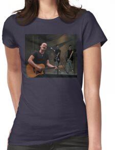 Busker, Pitt Street Mall, Sydney, Australia 2011 Womens Fitted T-Shirt