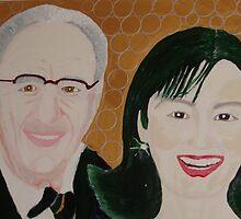 Mr Rupert Murdoch and wife Wendy  by Sunil