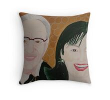 Mr Rupert Murdoch and wife Wendy  Throw Pillow