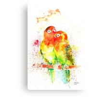 """Love Birds"" Canvas Print"