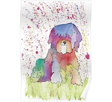 Pastel the Rainbow Pup Poster