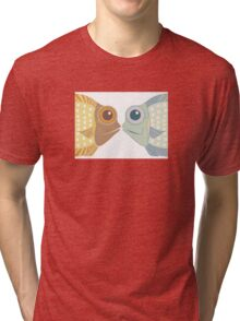 Fish Greetings Tri-blend T-Shirt