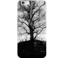 Black and white Majestic tree in the park  iPhone Case/Skin