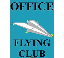 Office Flying Club - T-shirt Design Photographic Print