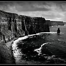 Ireland, Cliffs of Moher, County Clare. B&W treatment. by Noel Moore Up The Banner Photography