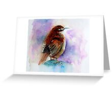 """Winter Wren"" Greeting Card"