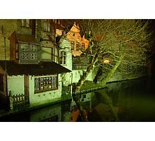 Brugge after dinner Photographic Print