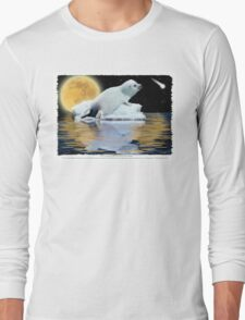 """The Celestial Child"" (Harp Seal) Long Sleeve T-Shirt"