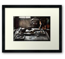 Graphic Artist - At the Printers Office Framed Print