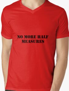 Half measures black Mens V-Neck T-Shirt