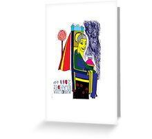 Electric Chair White Greeting Card