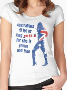 Australians all let us ring joyce! Women's Fitted Scoop T-Shirt