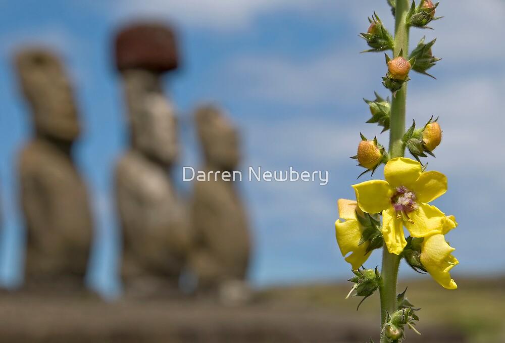 Ahu Tongariki, Easter Island. by Darren Newbery