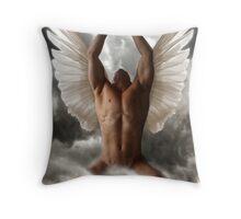 Angel of prayers Throw Pillow