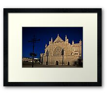 Exeter Cathedral & Crucifix Framed Print