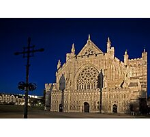 Exeter Cathedral & Crucifix Photographic Print